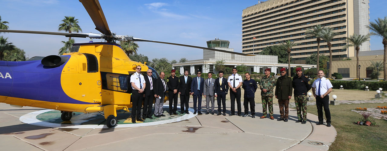 ABA Conducts First Ever Civilian Helicopter Trip To Al-Rasheed Helipad