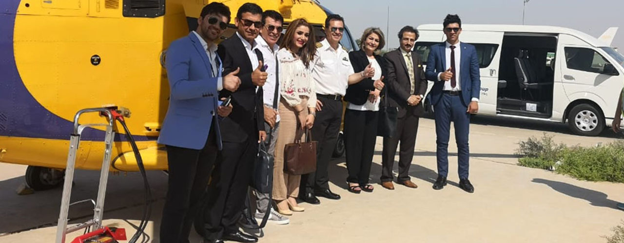 Al-Burhan Airways transports famous Iraqi celebrities