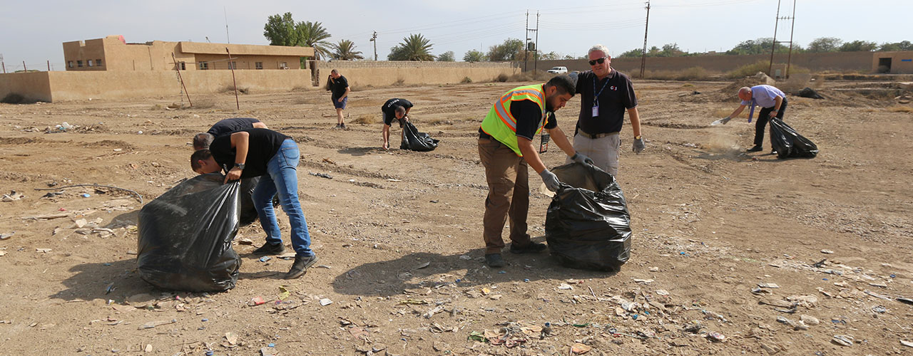 Al-Burhan Group, G4S and Serco Joint Cleaning Campaign